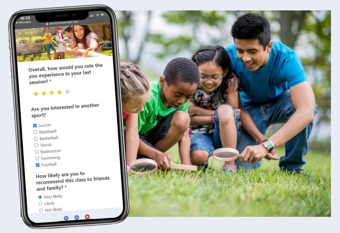 Activity Messenger: Surveys and analytics
