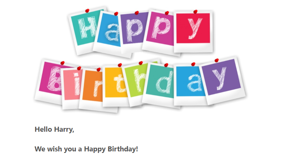 Activity Messenger allows you to program automatic Happy Birthday emails and text messages