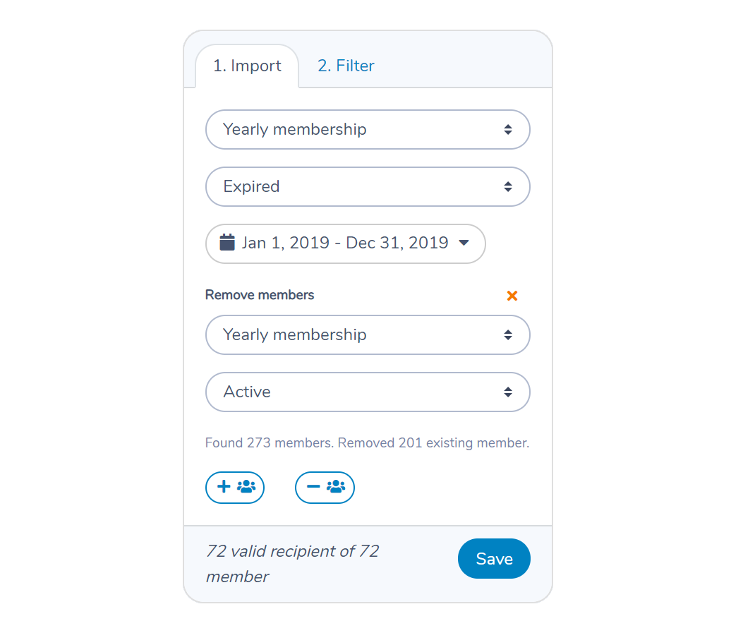 Find members who haven't renewed using Activity Messenger