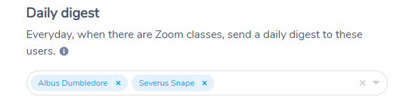 Configure who receives the Zoom Class Daily Digest from Activity Messenger
