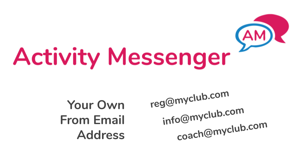 From Email using your own domain in Activity Messenger