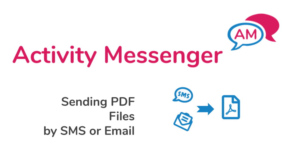 Sending PDF files by SMS or email using Activity Messenger