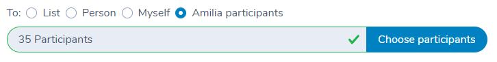 Send a message to participants in Amilia