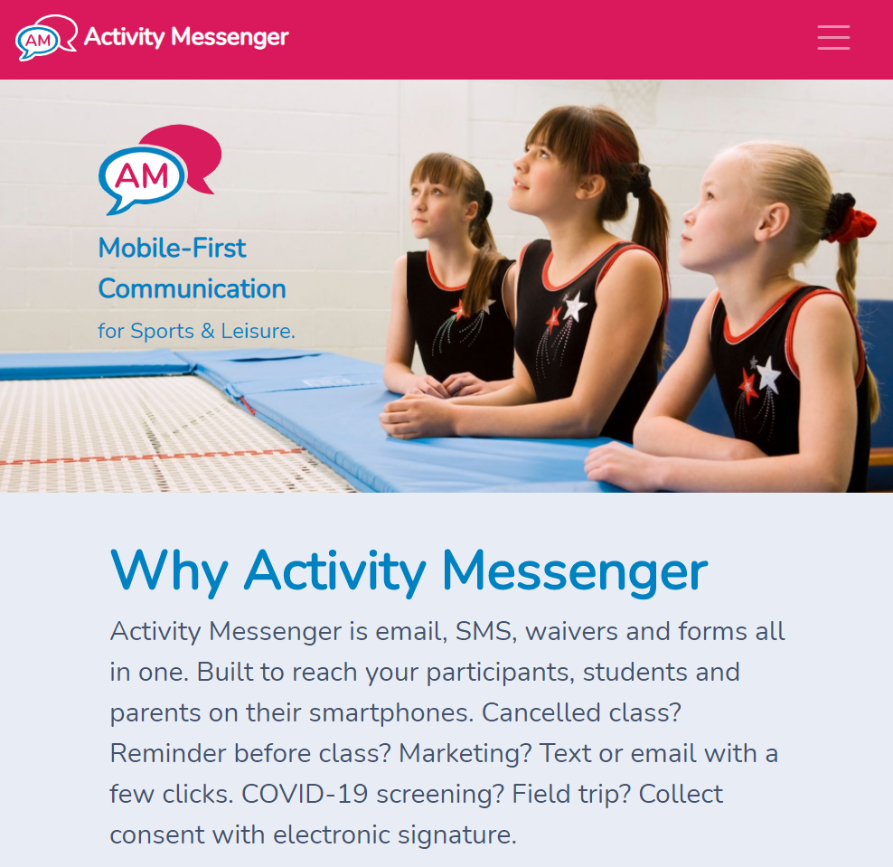 Activity Messenger new Home Page