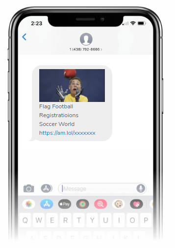 Newsletters by SMS in Activity Messenger