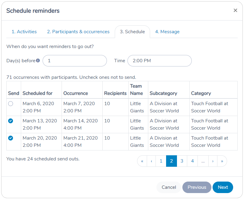 Scheduling Automation reminders manually in Activity Messenger